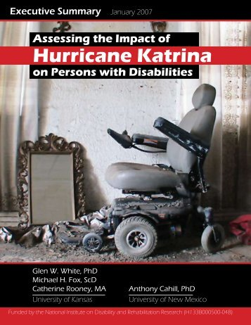 Hurricane Katrina - Research and Training Center on Independent ...