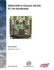 Hardware Manual - RTD Embedded Technologies, Inc.