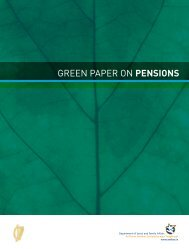 GREEN PAPER ON PENSIONS GREEN P A P ER ON ... - Welfare.ie