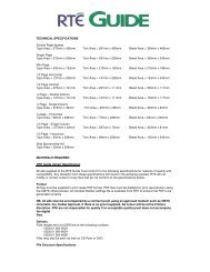 TECHNICAL SPECIFICATIONS Double Page Spread Type ... - RTÉ