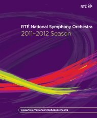 The new 2010-2012 Season brochure - RTÉ