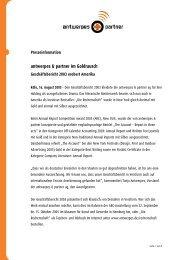 antwerpes & partner im Goldrausch - DocCheck AG