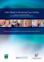 Older People in Residential Care Settings - National Centre for the ...