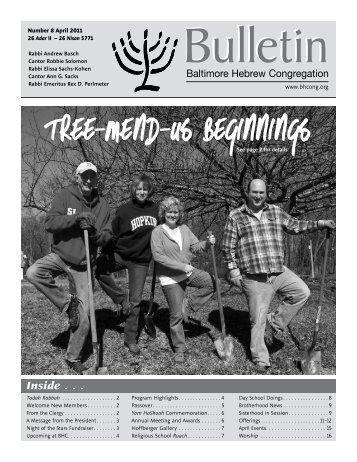 Tree-Mend-Us Beginnings - Baltimore Hebrew Congregation