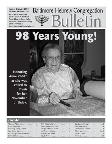 January Bulletin.indd - Baltimore Hebrew Congregation