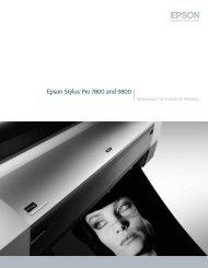 Epson Stylus Pro 9800 - RTI Global Inc.