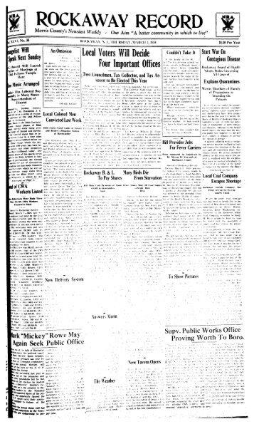 1 - Rockaway Township Free Public Library