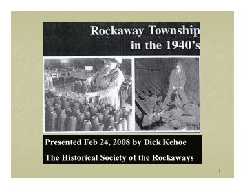 Rockaway Township in the 1940s - Rockaway Township Free Public ...