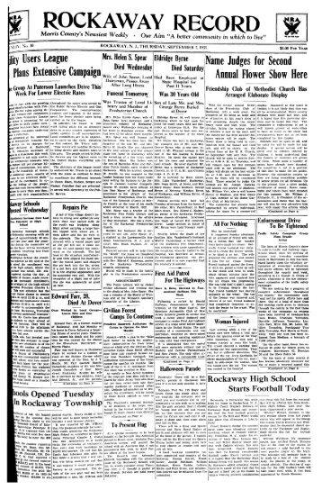 ROCKAWAY RECORD - Rockaway Township Free Public Library