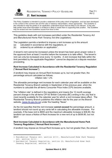 notice of rent increase form
