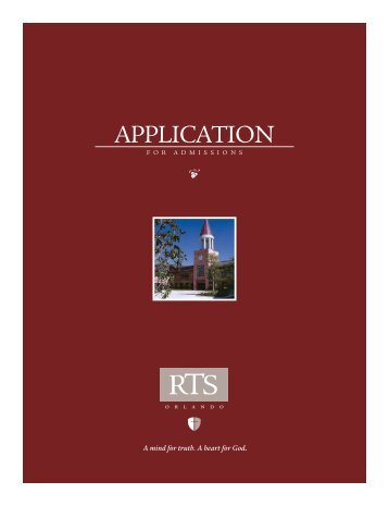 RTS049 ApplicationV2.indd - Reformed Theological Seminary