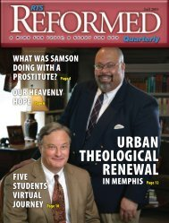 URBAN THEOLOGICAL RENEWAL - Reformed Theological Seminary