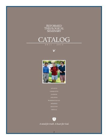 RTS Catalog - Reformed Theological Seminary