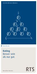 Qualifiziertes Rating mit starkem Partner: RTS Steuerberatung