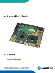 Kontron User's Guide ® ETX®-PM3 - Fortec AG