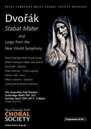 Dvořák - Royal Tunbridge Wells Choral Society