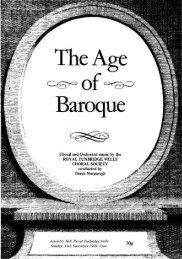 The Age - Royal Tunbridge Wells Choral Society