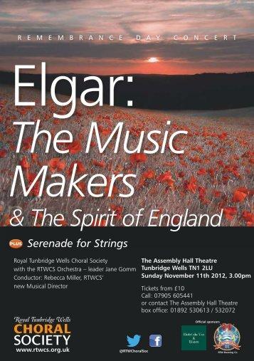 & The Spirit of England - Royal Tunbridge Wells Choral Society