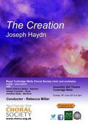 The Creation - Royal Tunbridge Wells Choral Society