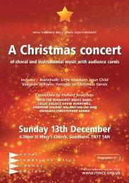 Includes – Buxtehude - Royal Tunbridge Wells Choral Society