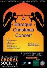 Programme - Royal Tunbridge Wells Choral Society