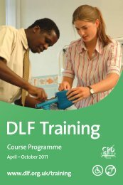 DLF Training - Disabled Living Foundation