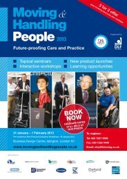Moving Handling People2013 - Disabled Living Foundation