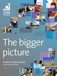 Disabled Living Foundation Annual Review 2007