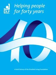 Helping people for forty years - Disabled Living Foundation