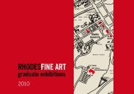 2010 Fine Art Graduate Catalogue - Rhodes University