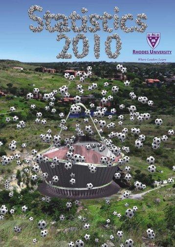 Department of Statistics Handbook 2010 - Rhodes University