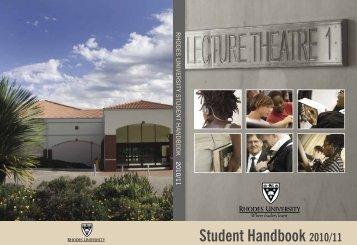 Student Handbook 2010/11 - Rhodes University