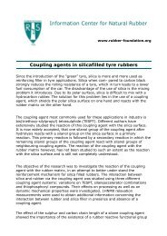 Coupling agents in silicafilled tyre rubbers - Rubber Foundation ...