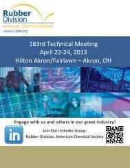 183rd Technical Meeting April 22-24, 2013 Hilton ... - Rubber Division