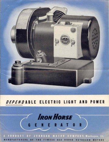 1936 Iron Horse Generator Brochure - ruc enterprises