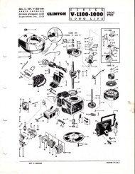 CLINTON Engines Bearing Plate Gasket 94-105