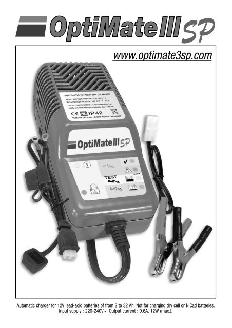 Optimate 3 12v battery charger | mds battery.