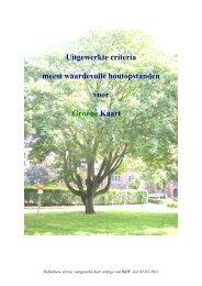 definitieve Criteria Groene Kaart - Gemeente Rucphen