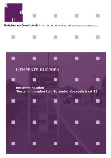 Bestemmingsplan kom Sprundel, Koekoekstraat 81 - Gemeente ...