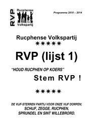 Stem RVP ! - Gemeente Rucphen