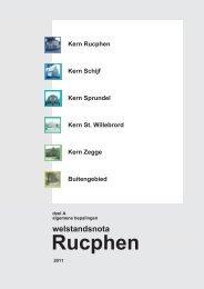 Welstandsnota, algemene bepalingen - Gemeente Rucphen