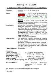 Hamburg 4.7. – 7.7. 2013 - Ruder-Club Witten eV