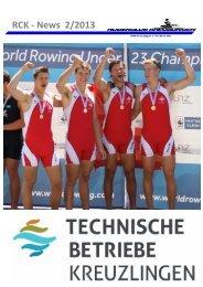 RCK -‐ News 2/2013 - Ruderclub Kreuzlingen