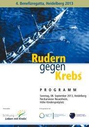 Programmheft Heidelberg 2013 - Rudern gegen Krebs