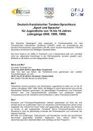 """Deutsch-französischer Tandem-Sprachkurs """"Sport und ... - Rudern.de"""