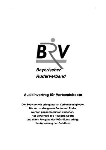 Ausleihvertrag - Bayerischer Ruderverband