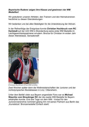 Bayerische Ruderer zeigen ihre Klasse und gewinnen vier WM ...
