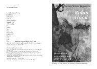 Einladung Robin Hood - Rudolf Steiner Schule Wuppertal