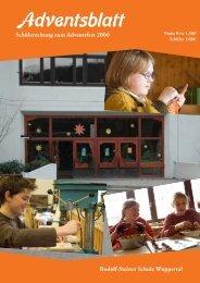 Adventsblatt« der Klasse 11 - Rudolf Steiner Schule Wuppertal