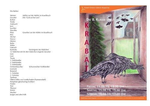 Einladung Krabat - Rudolf Steiner Schule Wuppertal